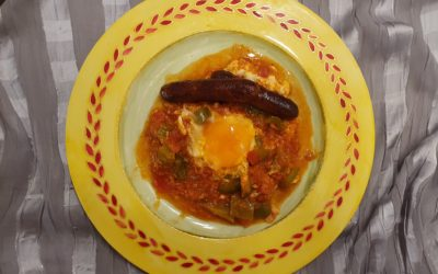 Tunisia: Ojja with Eggs and Merguez