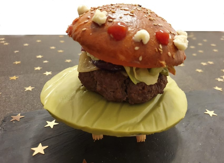 Kalifornischer Alien-Burger