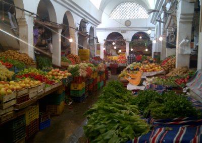Mercado de verduras en Sousse