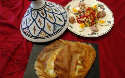 Túnez: Brick con ensalada tunecina