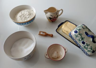 Ingredients for the Kouign Amann